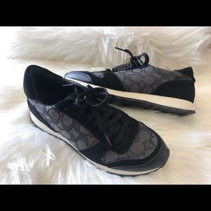 COACH black/gray tennis shoes. Size: 8